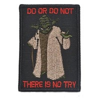 Yoda DO OR DO NOT - 3X2 Morale Patch - Black