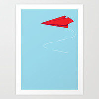 Paper plane Art Print by Becky Gibson