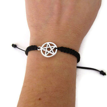 Supernatural friendship bracelet- Devil's Trap bracelet - macrame bracelet