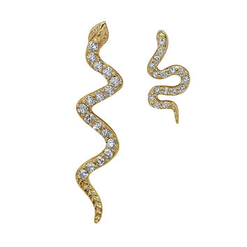 Mom and Son Snake Earrings