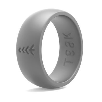 Silicone Wedding Ring for Men. Rubber Wedding Band for Every Day Use - Weight Training, Sports, Military, Work, Hunting, Travel and Outdoors - Teak