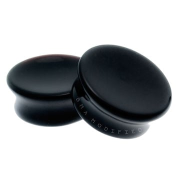 Black Onyx Mayan Flare Concave Plugs (6mm-51mm)