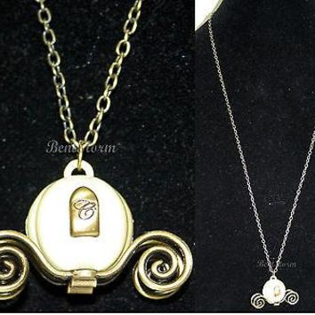 Licensed cool NEW Disney Princess CINDERELLA Carriage Coach Pendant Necklace Costume Jewelry