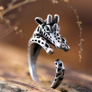 3D Cute Giraffe Ring