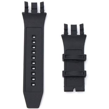 Black Replacement Soft Silicone Rubber Watch Band Strap Kit For Invicta SUBAQUA