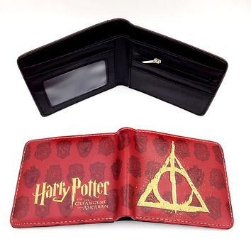 hot movie harry potter game of throne spiderman man wallet card holder with cion zipper pocket