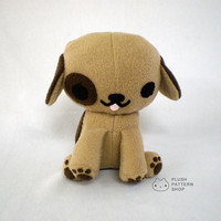 PDF Sewing Pattern Plush Puppy Dog Stuffed Animal
