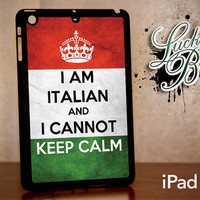 iPad Mini Hard Case - Keep Calm Italian Flag - Tablet Cover IPM
