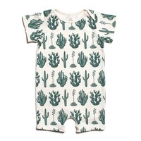 Green Cactus - Summer Organic Romper by Winter Water Factory