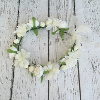 Shades of Ivory - Whimsy Flower Crown