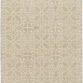 Surya Scott Medallions and Damask Green SCT-1006 Area Rug
