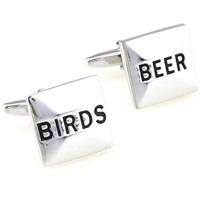 Beer Bird Novelty Food Drink Men Football Cufflinks