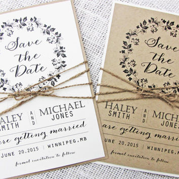 Save the Date Card, Rustic Save the Date, Wedding Save the Date Set of 50