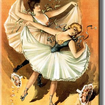 Ballet Dancers Vintage Picture on Stretched Canvas, Wall Art Décor, Ready to Hang