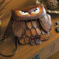 Owl Leather Purse|WildWings