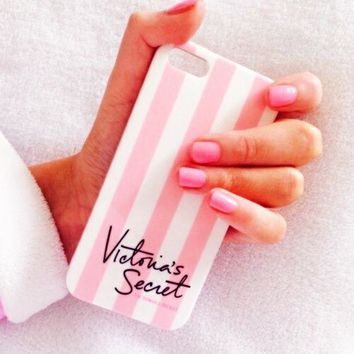 Victoria's Secret Fashion Stripe iPhone Phone Cover Case For iphone 6 6s 6plus 6s-plus 7 7plus