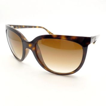 73163a9ddb Ray Ban Cats 4126 710 51 Havana Brown Fade Sunglasses New