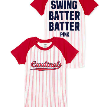 St. Louis Cardinals Short Sleeve Baseball Tee - PINK - Victoria's Secret