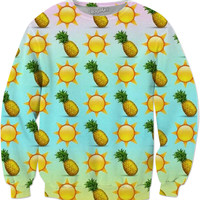 Pineapple And Sun Emoji Sweatshirt