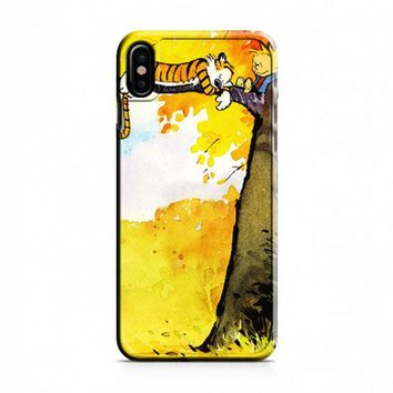 Calvin and Hobbes Relaxing iPhone X Case