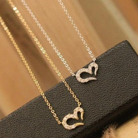 Crystal Fashion Heart Necklace