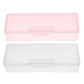 Chenier OPAL FERRIE - Plastic Transparent Nail Supplies Storage Box  193 mm x 80mm x 39mm Buffer/Files Organizer Case