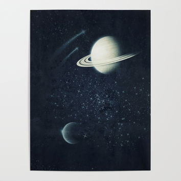 Deep Blue Space Poster by duckyb