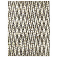 Cowhide Mento Rug - Grey/Black