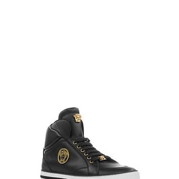Versace - Nappa Leather Mid-Top Sneakers