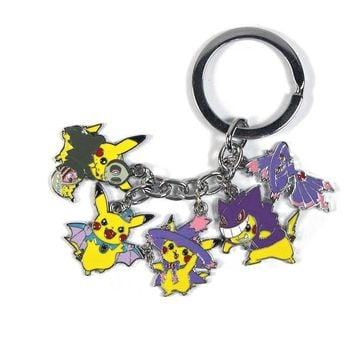 Anime  Sun Moon Solgaleo Keychain+Card Pendant Cosplay Collection costume accessoriesKawaii Pokemon go  AT_89_9