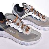 "UNDERCOVER x NIKE EPIC REACT ELEMENT 87 ""WHITE GREY""AQ1813 341"