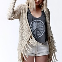 O'Neill Ibby Fringe Cardigan Sweater - Womens Sweater - Natural - Medium