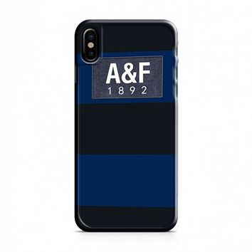 Dark Blue Abercrombie And Fitch iPhone X Case