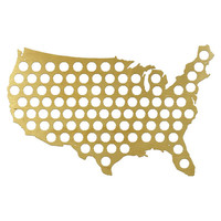 BEER CAP TRAP: BEER CAP MAP OF USA