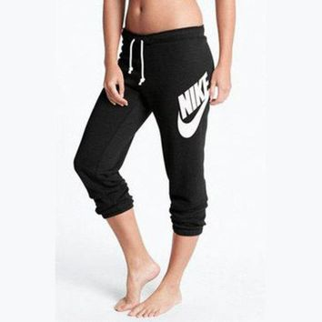 LMFON NIKE Casual Drawstring Sport Running Gym Pants Trousers Sweatpants