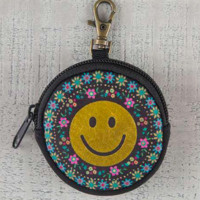 Smiley Face Ear Bud Pouch