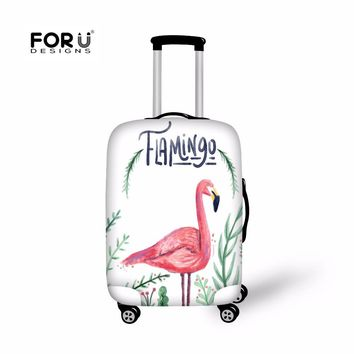 FORUDESIGNS Flamingo Case Cover Travel Suitcase Protective Cover Bags Luggage Protect Covers for Women Girl Fashion Trunk Case