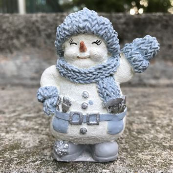 "SNOW BUDDIES 94519 Flurry 3.5"" Winter Holiday Snowman Figurine RARE"