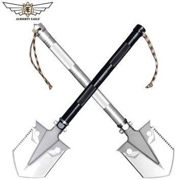 ALMIGHTY EAGLE Outdoor  MINI multifunctional shovel survival Tactical tool folding shovel Camping Hunting Women self-defense