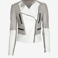 Yigal Azrouel Two Tone Leather Jacket-Just In-Clothing-Categories- IntermixOnline.com