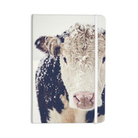 "Debbra Obertanec ""Snowy Cow"" Black White Everything Notebook"