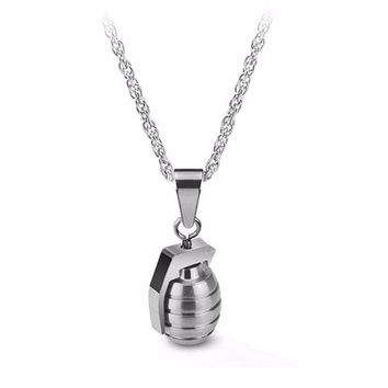 The Grenade Necklace in Silver