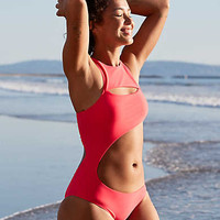 Aerie One Piece Swimsuit , Light Neon Red
