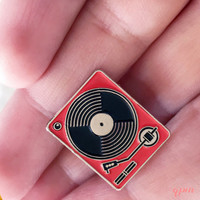 Record Player Enamel Pin - Record Player brooch