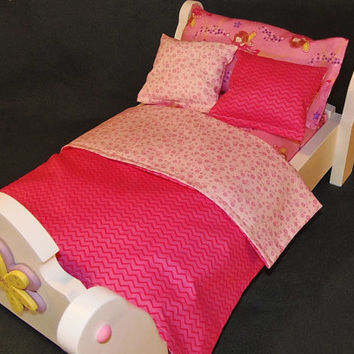 American Girl Doll Five Piece Pink Fairy Bedding Set