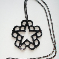 Black glossy glitter Black  Veil Brides inspired necklace