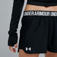 Under Armour Play Up Woven Short In Black at asos.com