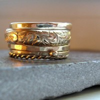 Five Gold Rings Stackable Set in Gold Filled by tinahdee on Etsy