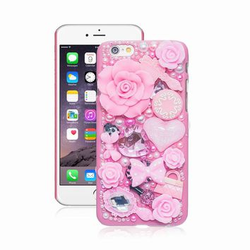 Pearl Crystal 3D Case For iPhone 7 plus 6 5 5S 5C 6 plus Hard Co 379caf6c56