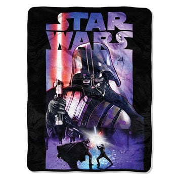 Star Wars Classic - Darth Night  Micro Raschel Blanket (46in x 60in)